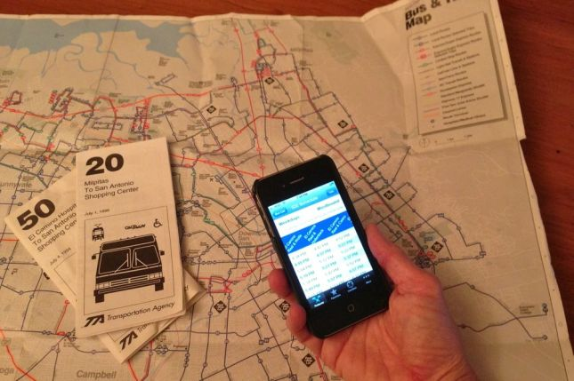 I hadn't taken the local bus since the mid-90s, but I still had maps (and a new app)