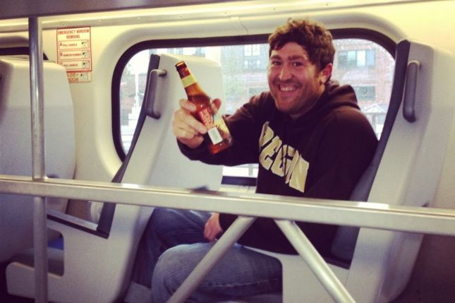 I have even more friends on the train which means free beer for Friday Happy Hour.