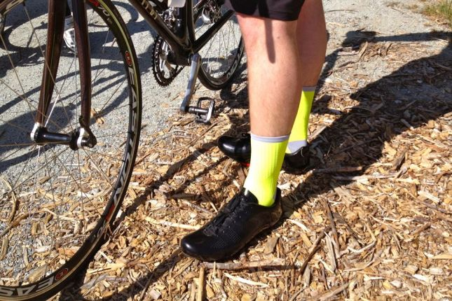 These hi-viz socks, also from Giro, are not part of the New Road apparel line.