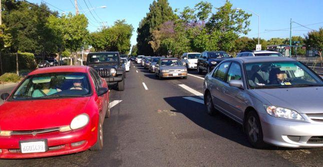 Rush Hour Expressway Traffic