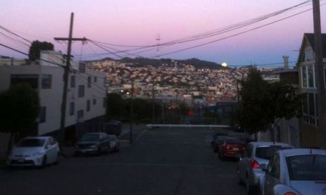 Sunrise over Mt Davidson