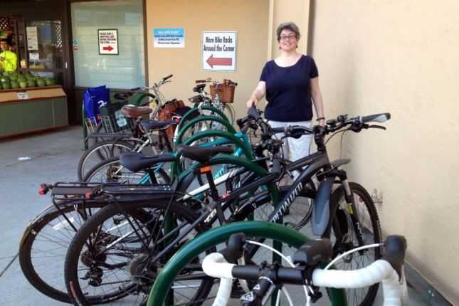 The racks are very popular. This was a Saturday at 6:30 pm.