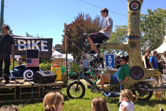 Bike Powered Speaker Tree
