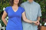 Dick is as comfy in his short sleeve button down shirt as I am in my dress.