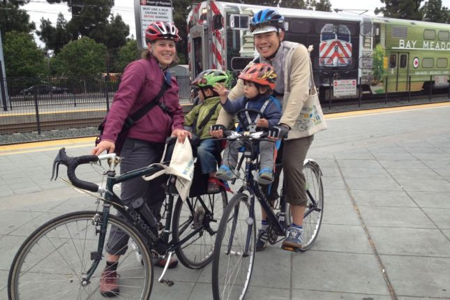 Mom & Dad at Caltrain