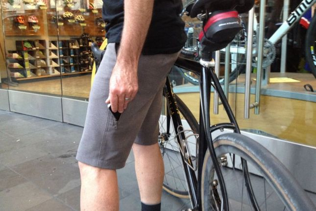 And this pocket in the shorts, perfect for slipping in a cell phone.
