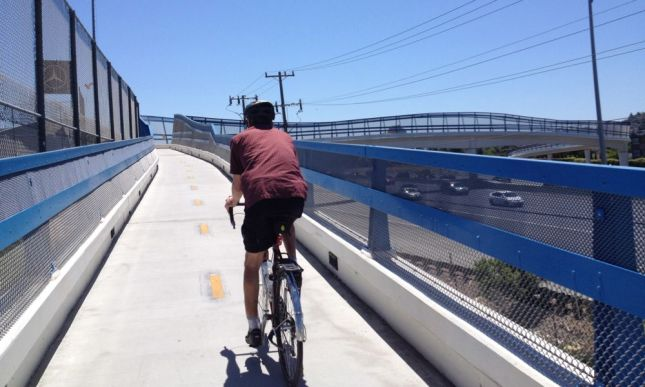 The highlight of our ride to the Maker Faire was crossing the new-to-us bridge on Ralston Avenue.