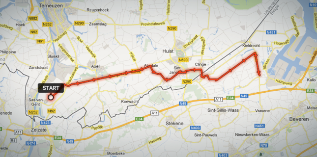 Frank rides 60 km a day and crosses from the Netherlands into Belgium for his bike commute.