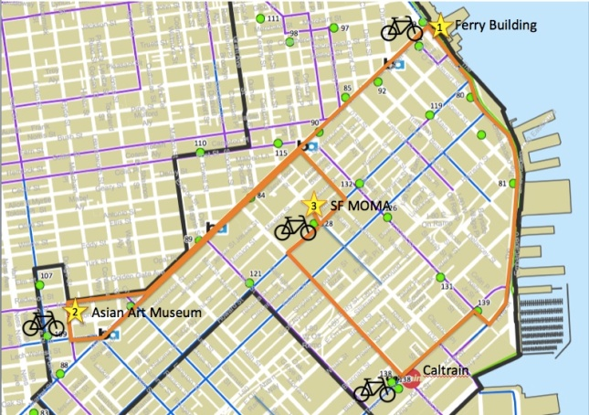 With Bike Share in San Francisco, we could have ridden from Caltrain to...