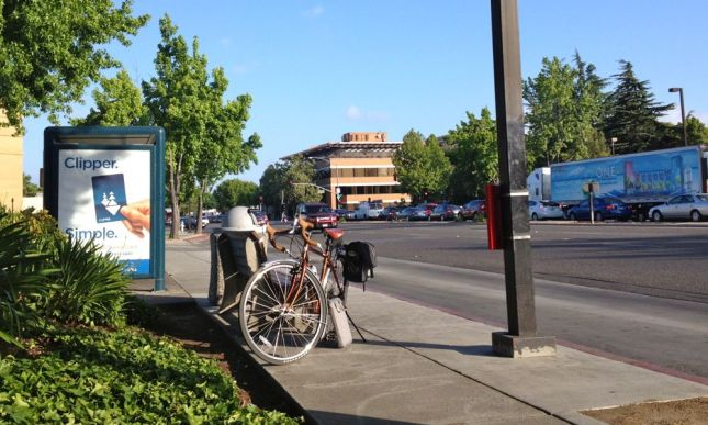 I rode 1.6 miles and waited for the express bus to San Jose.