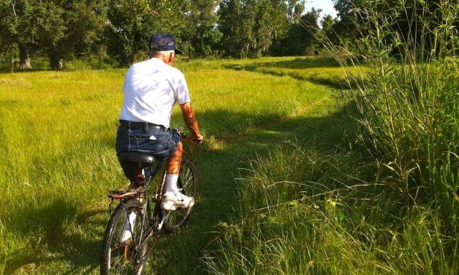 Dad on Grass Summer