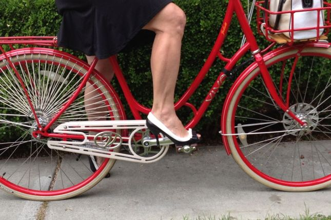 Walk a mile in these high heels? No way. Ride 10 miles? No problem!