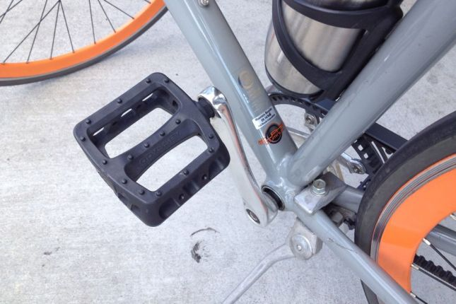 The only things Brian replaced were the metal MKS pedals for bigger, more shoe-friendly composite pedals.