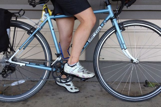 When you're in a hurry, cycling shoes will get you there faster than heels.