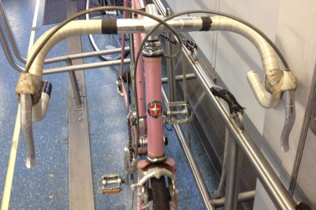 """Look close and you'll see """"Schwinn Chicago"""" on the head badge."""