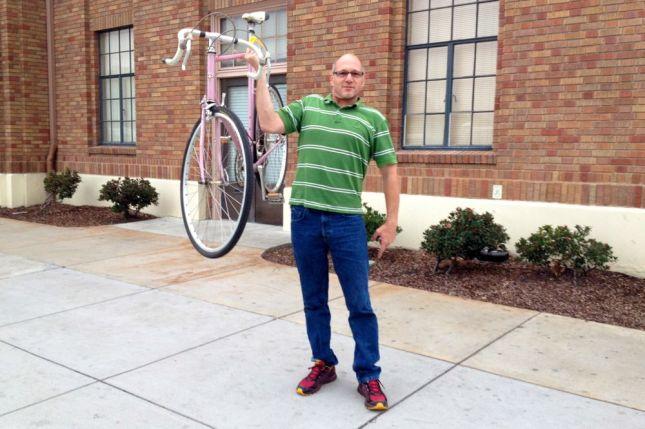 Real Men Pink Bikes