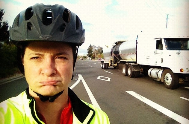 Riding on Central Expressway