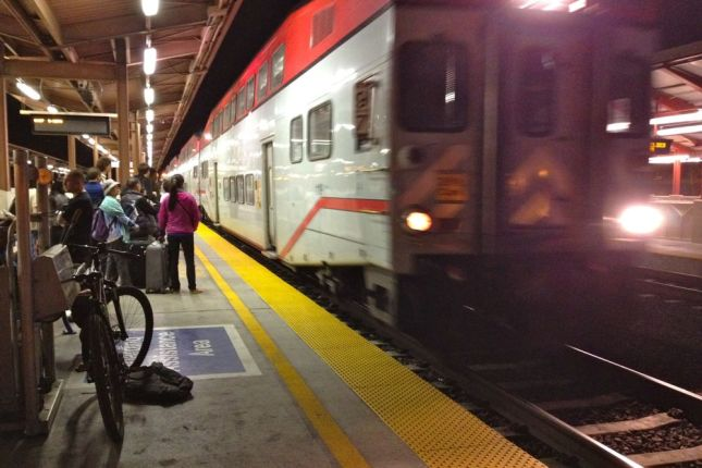 One more bike share leg and we were on Caltrain headed home.