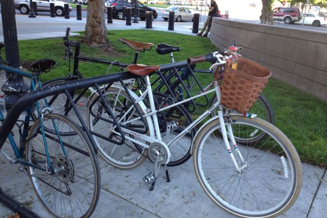 It seemed silly to leave our bikes at the Caltrain station, but we wanted to try bike share.