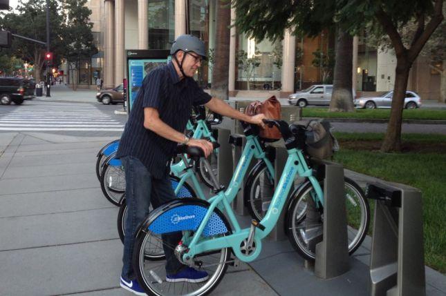 Redocking bike #2 at Santa Clara Street.