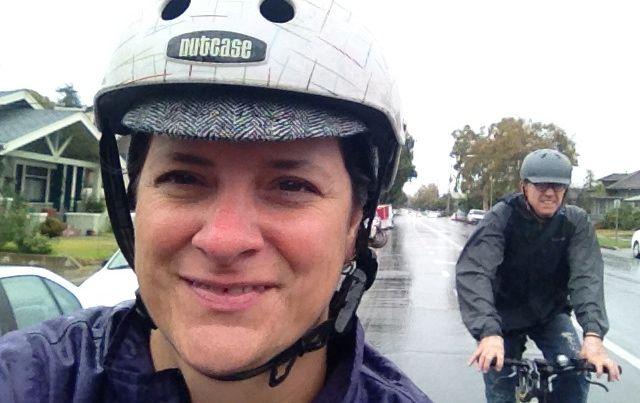 Riding in Rain Wide