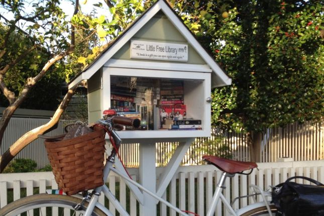 A sidewalk library shouldn't have been a surprise in a neighborhood named Professorville.