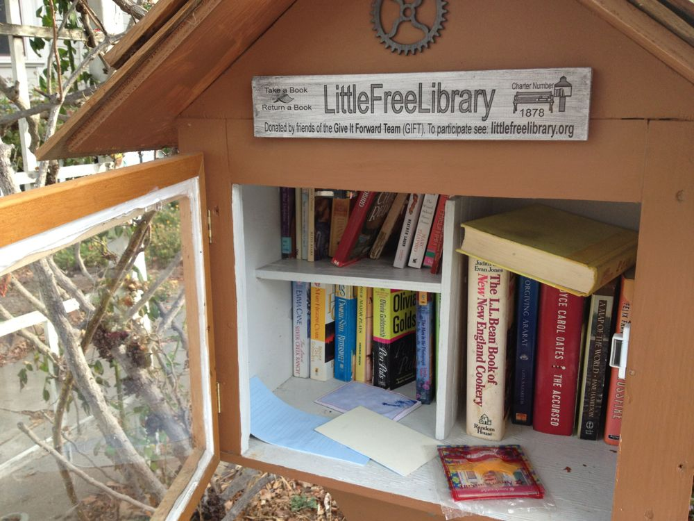 Little Free Library World Map.San Jose Little Free Library Close One Woman Many Bicycles