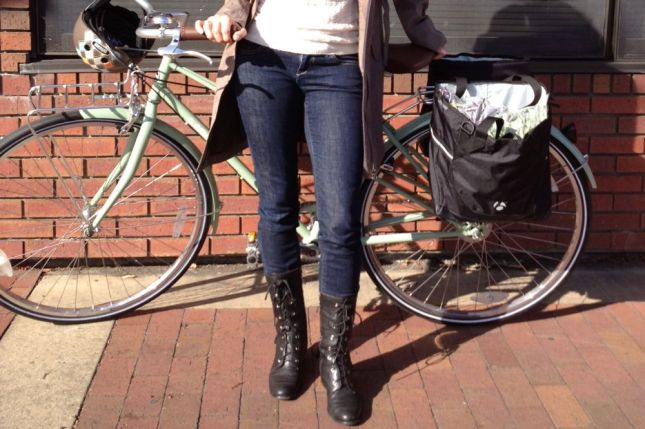 Until that rainy day, Deanna's all-cotton skinny jeans will do her just fine.