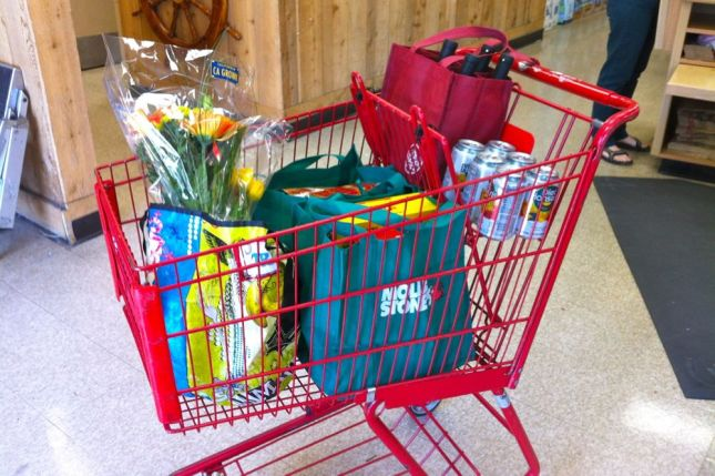 My usual weekly grocery trip is about 3-4 bags full.