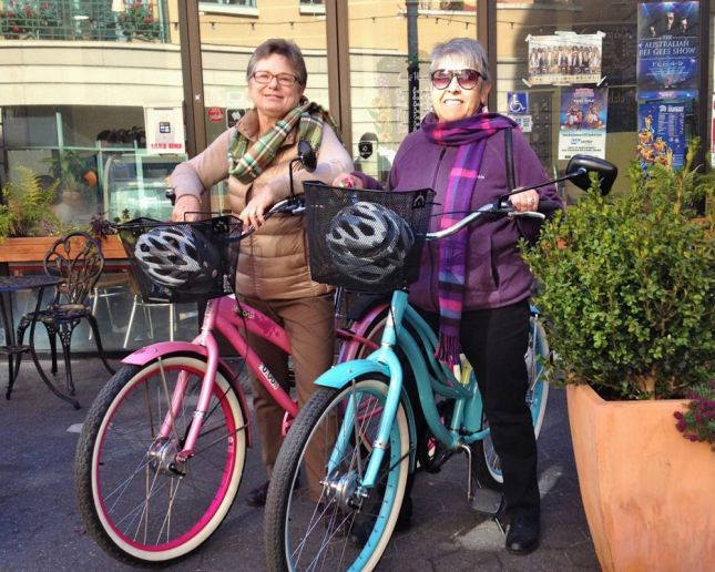Single-speed cruisers are the perfect way to get around downtown San Jose.