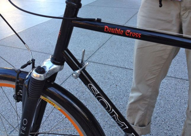 Hey look, down tube shifters on a non-vintage bike! Slick.