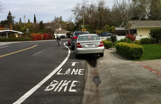 Cowper Street was one of the first Bike Lane FAILs I featured on this blog.