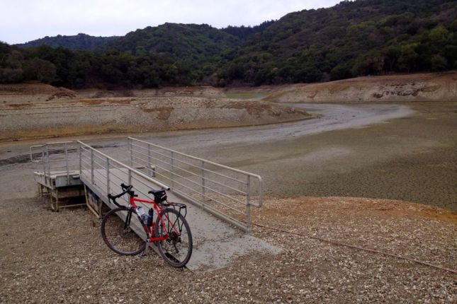 We rolled from home up Stevens Canyon. The reservoir was the lowest I've ever seen.
