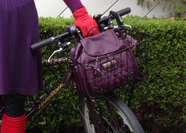 The 90s mini-backpack is back! Even more useful now that I ride a bike.