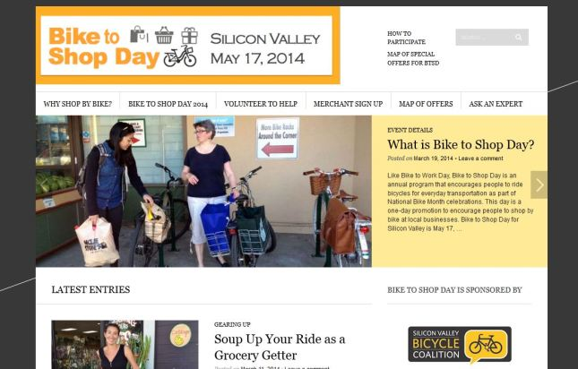 Bike to Shop Day web site