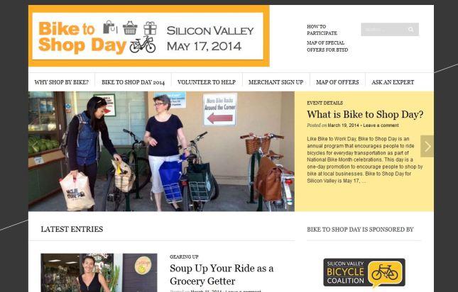 Bike to Shop Day web site