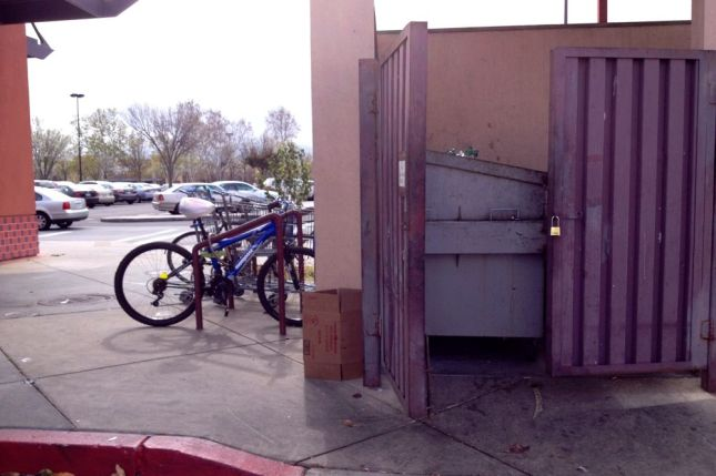 Dumpster Bike Rack