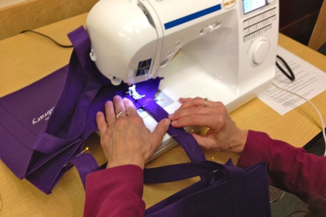 Sew the straps together, using a heavy duty stitch all the way down both sides of the strap.
