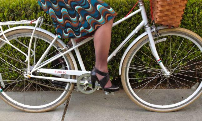 Bike in heels