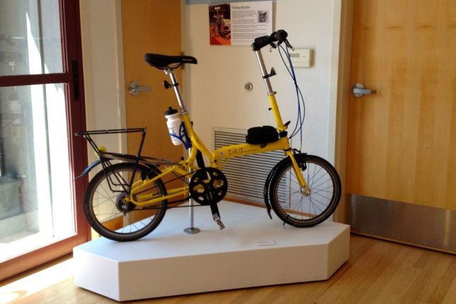 Not sure the wheels on this Tikit folding bike meet the DMV bike definition.