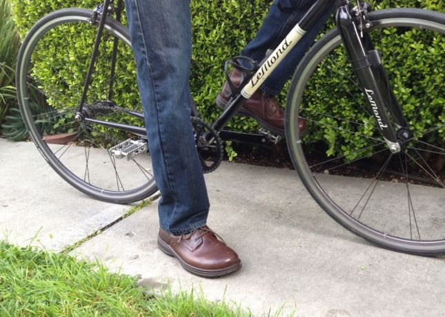Dick swapped out SPDs for flat pedals for our first Bike Date Friday 3.5 years ago. He's kept them on since.