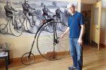 The Pedal Power exhibit tells the history of bicycles, starting with a penny farthing with adjustable cranks.