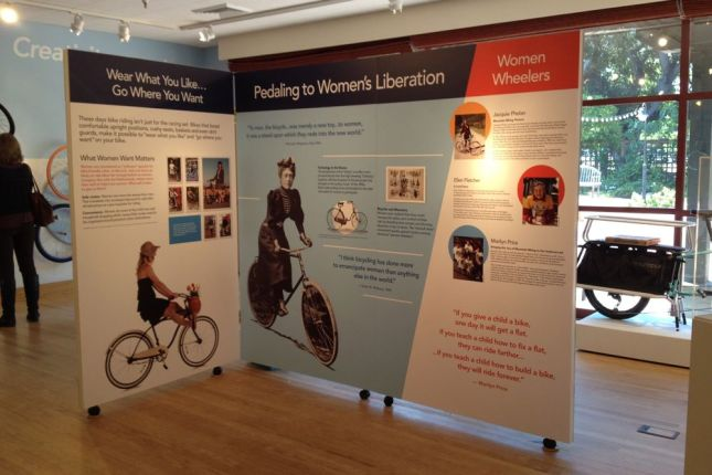 Female pioneers and the  bicycle's role in women's liberation were duly noted.