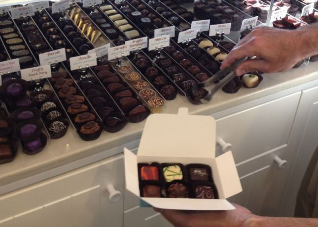 When we get to Willow Glen, I'm hitting Mariette Chocolates first. Their sea salt caramel chocolates are divine.