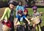 The Kidical Mass tour is perfect for kids of all ages, on their own bikes or carried on or pulled by their parents.