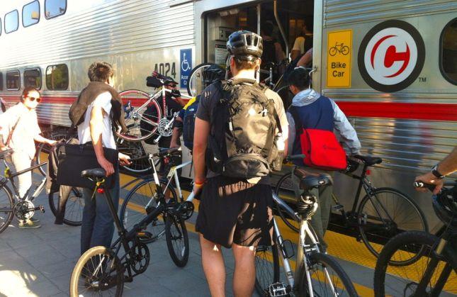 Boarding Caltrain