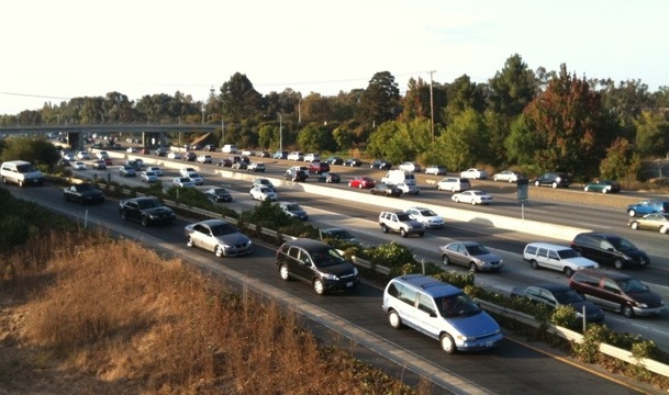 Hwy 101 from Palo Alto footbridge