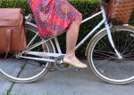 The knee-length A-line skirt is my favorite silhouette for biking. Full for movement but stays in place.